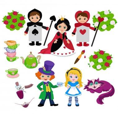 Alice in Wonderland. Vector illustration. stock vector