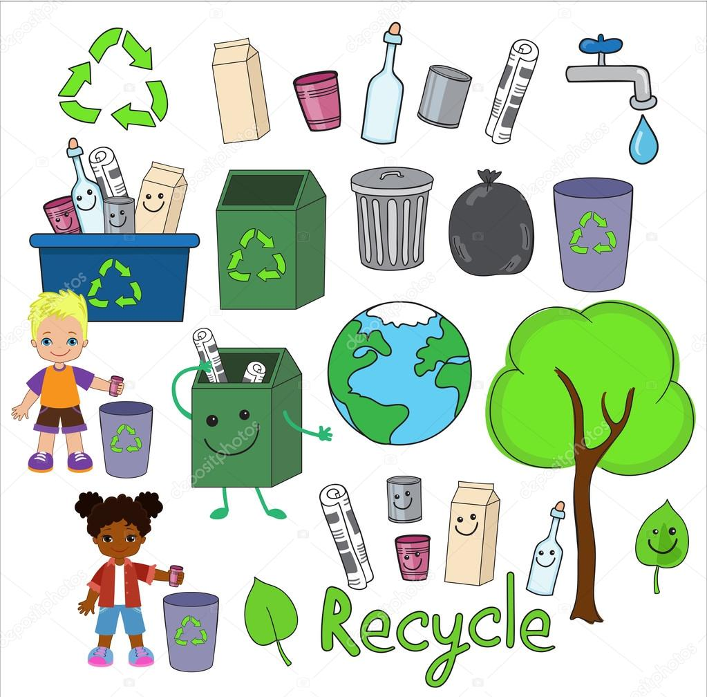 Ecology elements you can use on Earth Day. Happy children celebrate Earth Day.