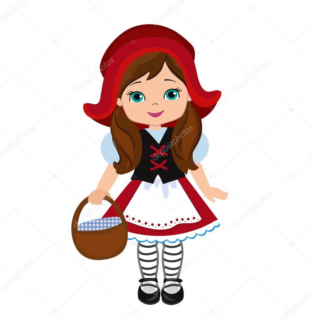 ilustracja czerwony kapturek grafika wektorowa little red riding hood clip art panda little red riding hood clip art free