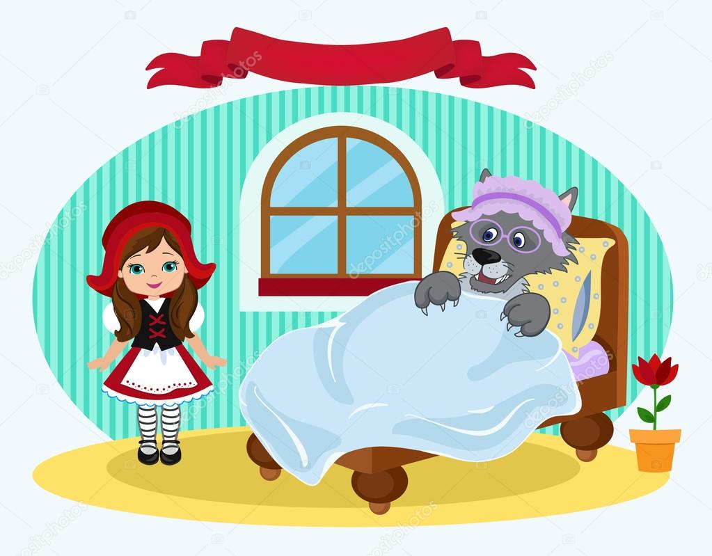 ᐈ Little Red Riding Hood Stock Illustrations Royalty Free Red