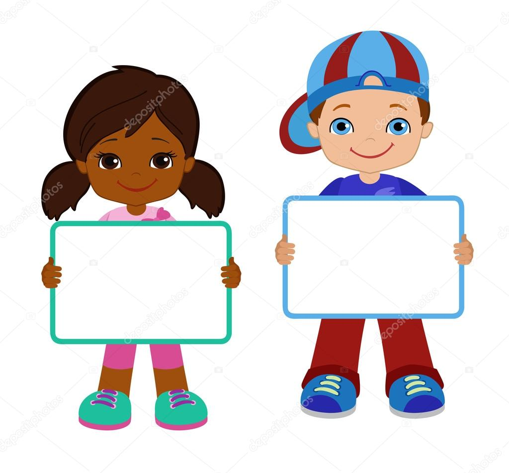 kids with signs bricht kids frame board clipart child meeting rh depositphotos com clipart child clipart child thinking
