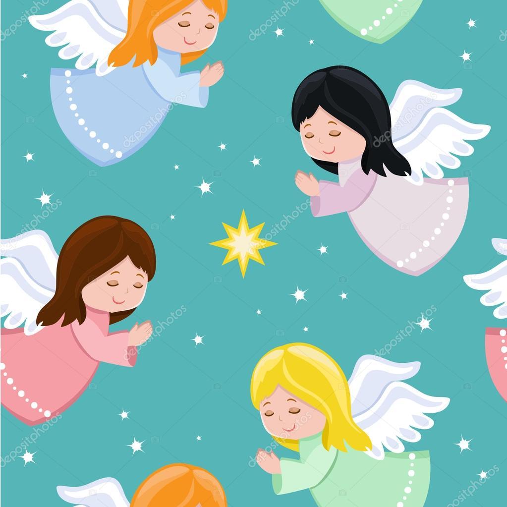 Imágenes Los Angelitos Lindos Angelitos Volando En El Cielo