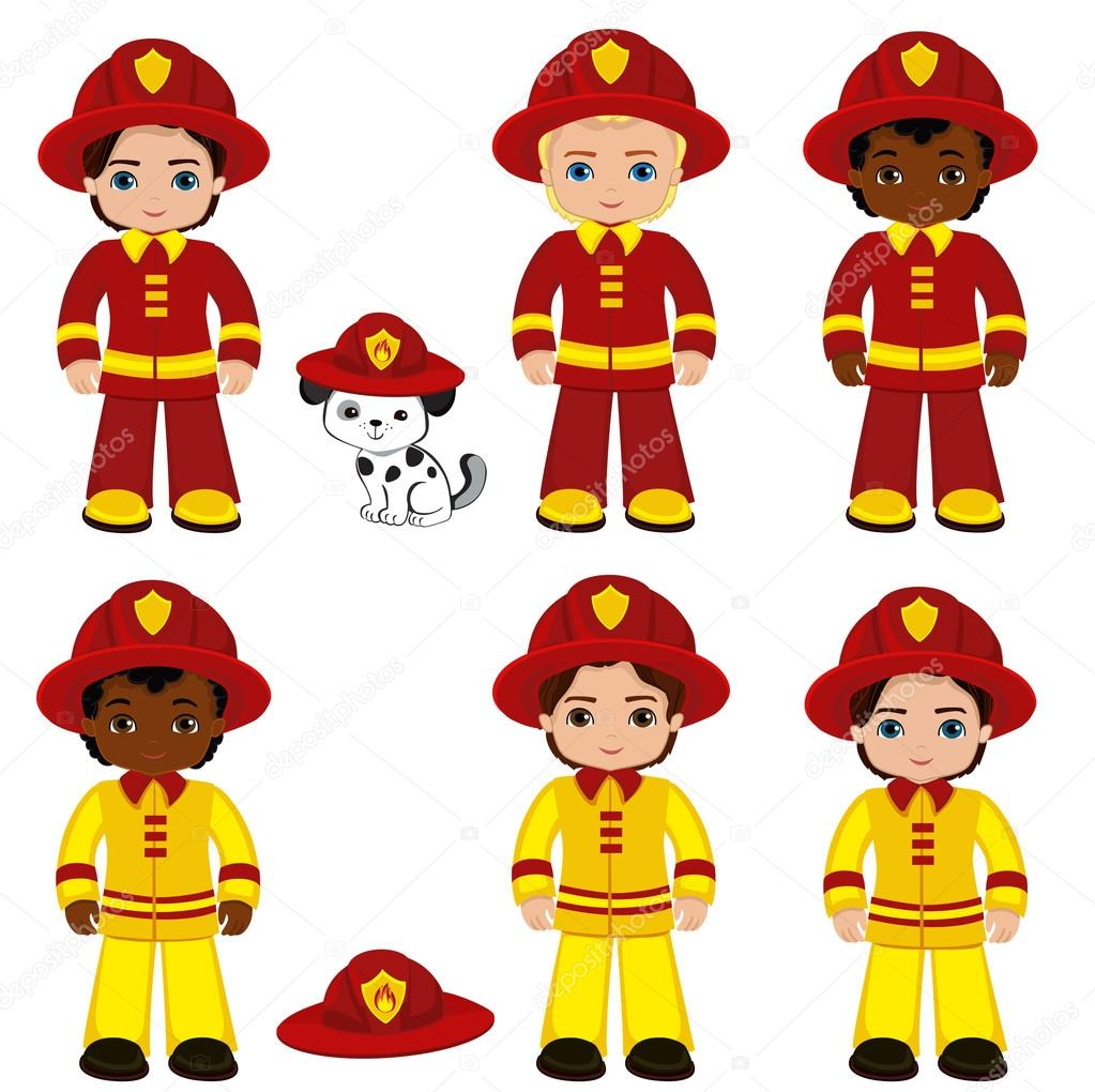 Fire brigade cute boys cartoon vector illustration vector fire brigade cute boys cartoon vector illustration vector illustration isolated oh white background thecheapjerseys Image collections