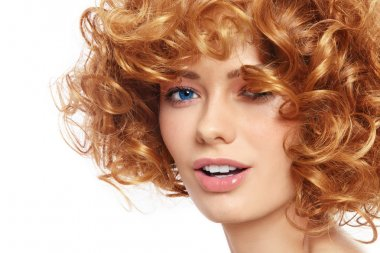 woman with curly hair
