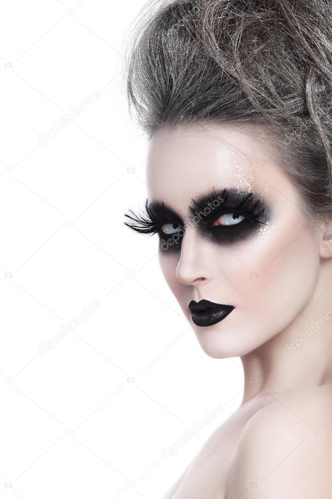 woman with stylish Halloween make up