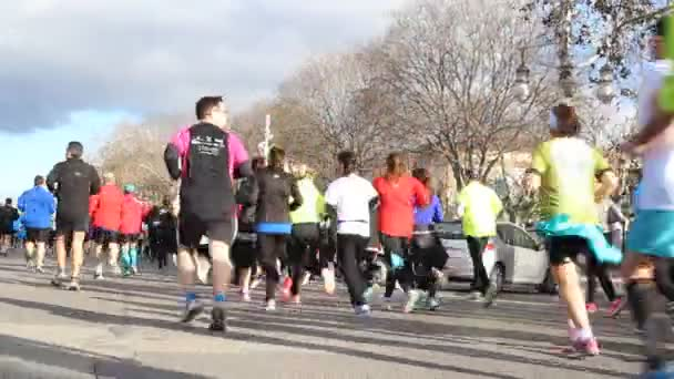 Runners compete in a 5K run