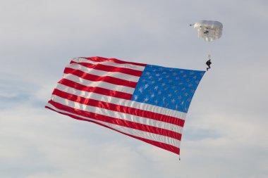 Skydiver US Flag