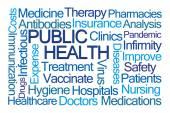 Fotografie Public Health Word Cloud