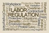 Fotografie Labor Regulation Word Cloud