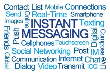 Instant Messaging Word Cloud