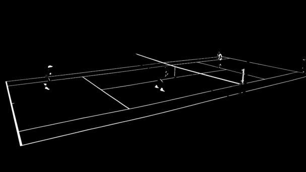 lidé hrající tenis