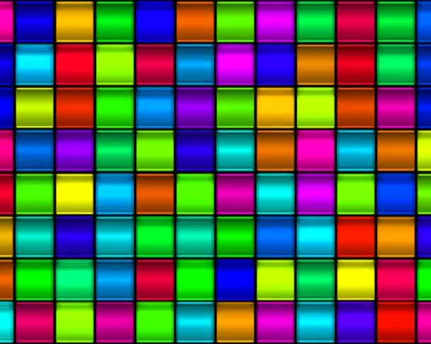 Tarka üvegmozaik négyzetek