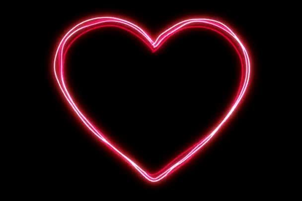 leuchtende energetische Herzform
