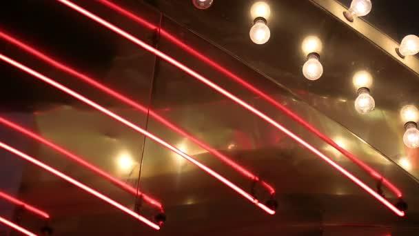 Neon und Verfolgungslichter