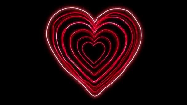Zářící Neon srdce