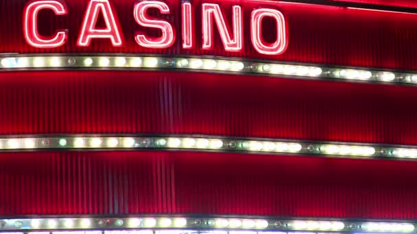 Leuchtreklame im Casino