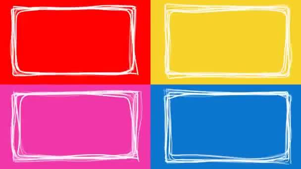 Multicolored Picture Frames