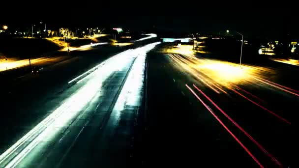 Freeway Time Lapse At night