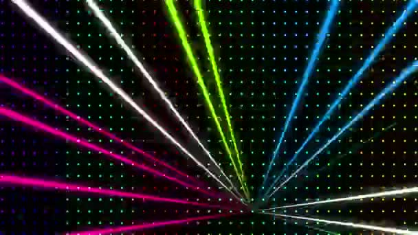 Multicolored Wall with Lasers