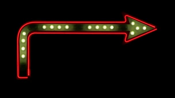 Neon Arrow with Chasing Lights