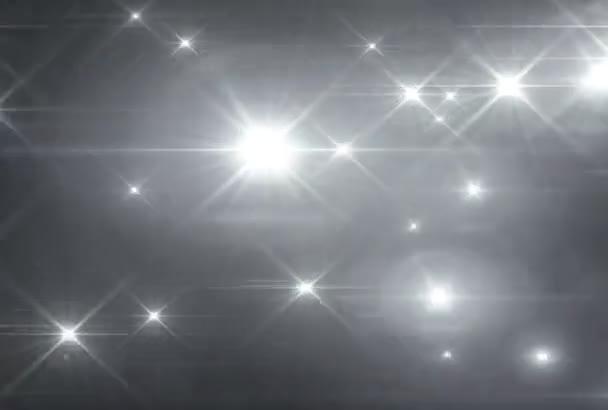 Weiße Sterne leuchten