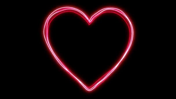 Zářící energetická srdce tvar