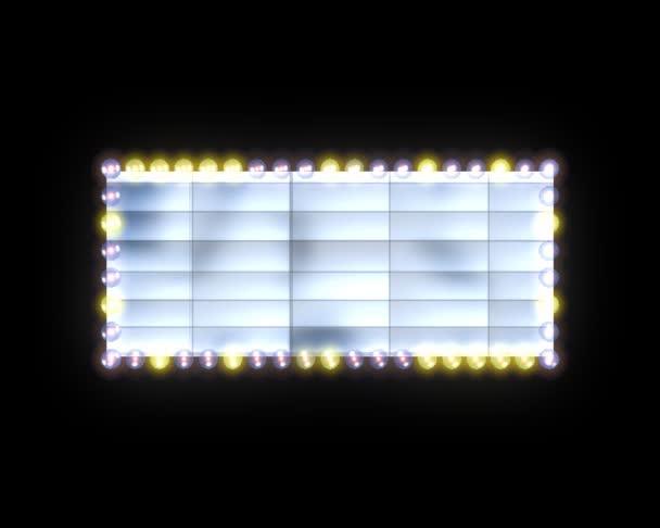 Plakatwand mit Glühbirnen