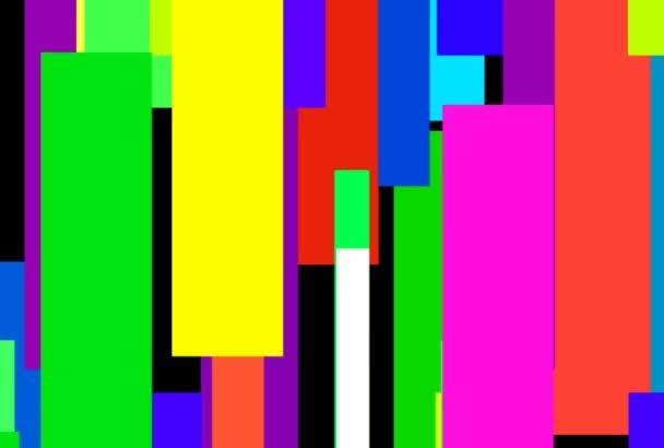 Mozaika pohybující se barevné pruhy