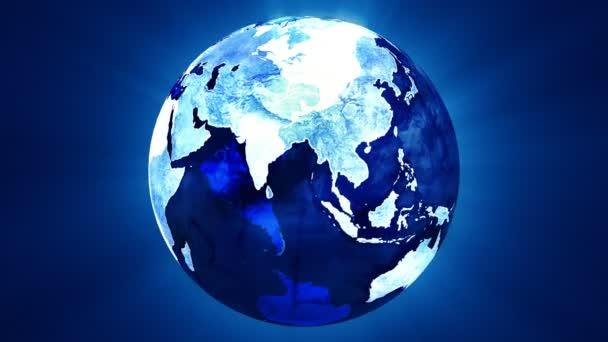modré otáčení země