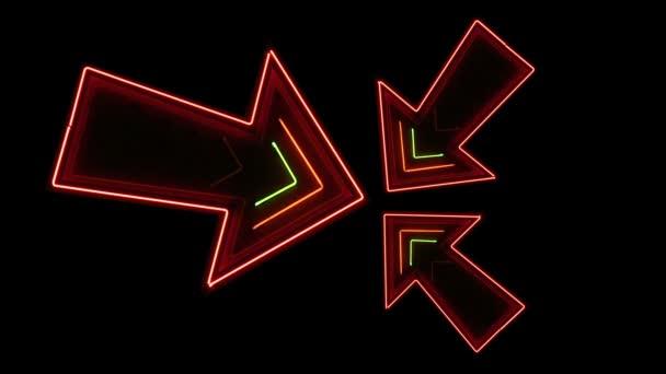 Three multicolored arrows
