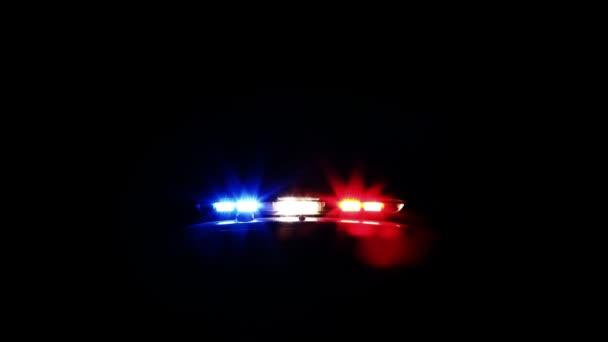 policejní auto světla