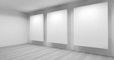 """Картина, постер, плакат, фотообои """" clean art gallery space """", артикул 103594562"""