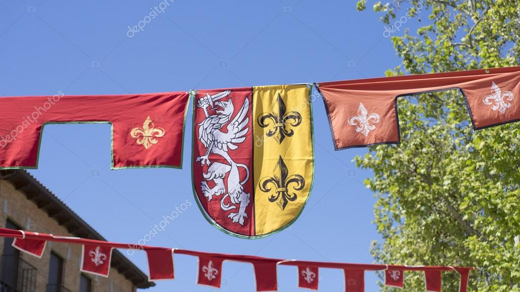 knight, medieval coats of arms in a traditional ancient art fair