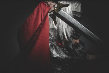 Roman legionary holding sword