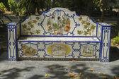 Fotografie bankovní krásné malované dlaždice kousky v Marbella