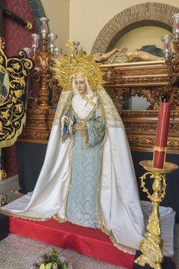Virgin Mary inside a church