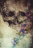 Fotografia modello di tatuaggio