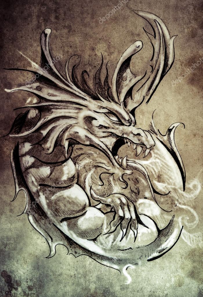 Croquis De Tatouage croquis de l'art du tatouage — photographie outsiderzone © #55095883