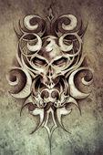 Photo Sketch of tattoo art