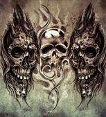 Vázlat a művészet tetoválás
