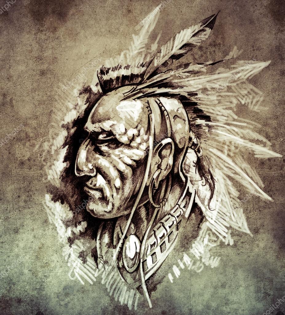 Free American Indian Tattoo Designs