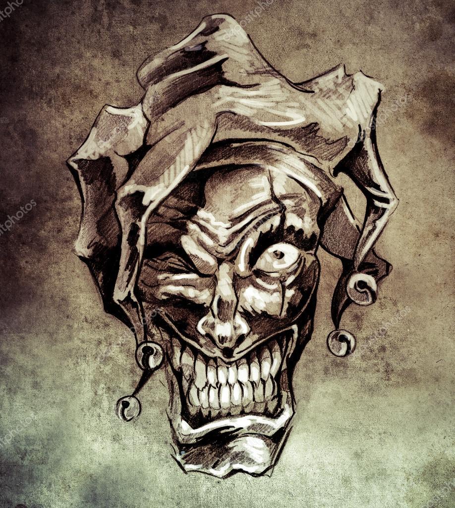Boceto Del Arte Del Tatuaje Foto De Stock C Outsiderzone 55103003