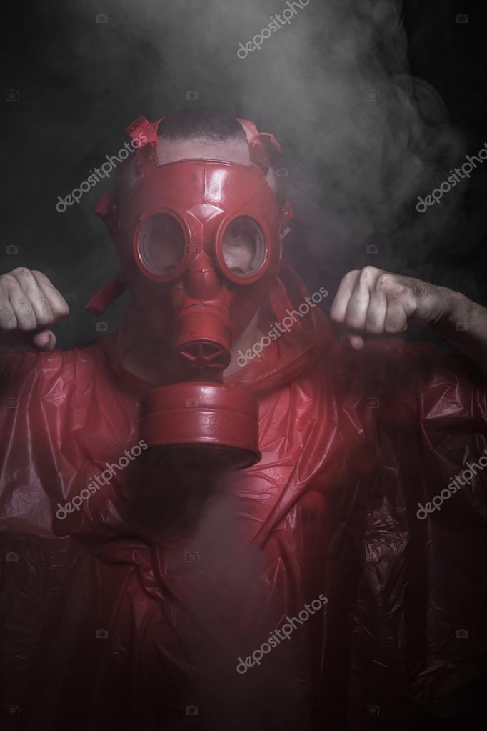 respirator mask red