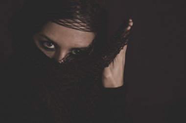 Woman in traditional Islamic veil