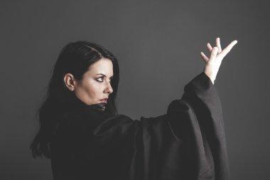gothic dark woman posing