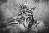 Viking tetování ilustrace
