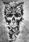 Photo death concept illustration