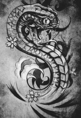 snake tattoo illustration