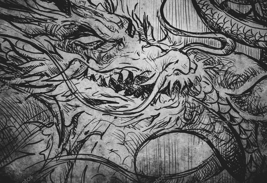 Illustration de tatouage japonais dragon croquis photographie outsiderzone 80289208 - Dragon japonais ...