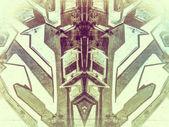 Fotografia forme geometriche dipinte sulla parete